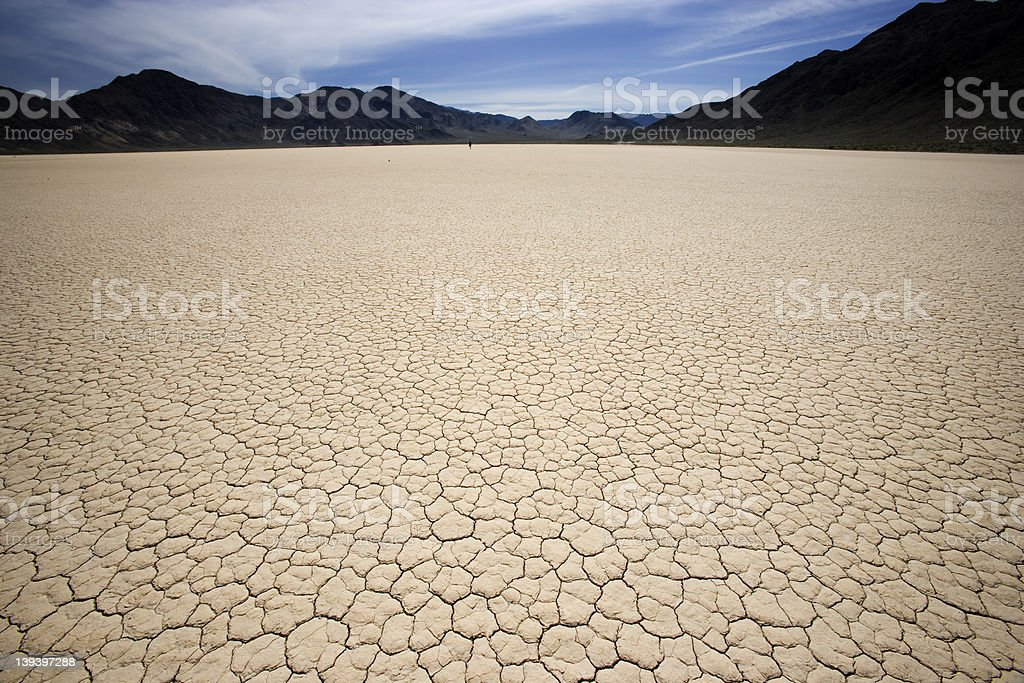 Death Valley Race Track – Playa Horizontal royalty-free stock photo