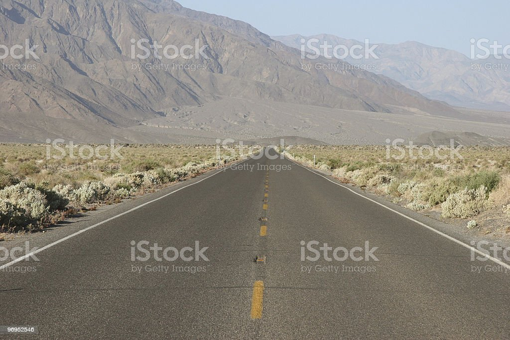 Death Valley Road royalty-free stock photo