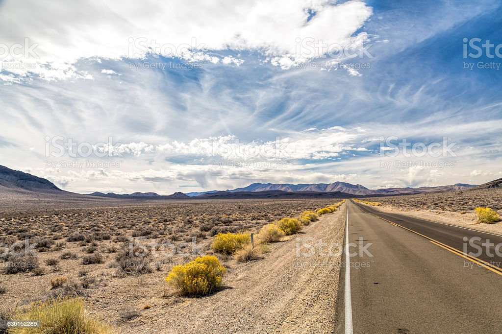 Death Valley - Road to Nowhere stock photo