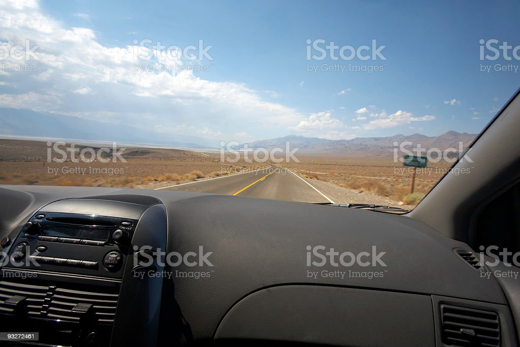 Death Valley Road To Nowhere royalty-free stock photo