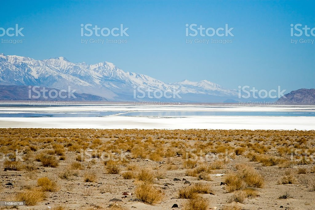 Death Valley Salt Flats stock photo