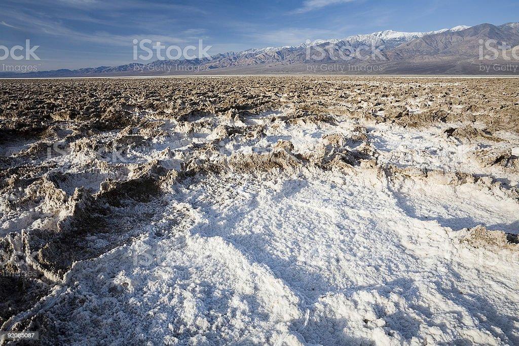 Death Valley Salt Flats royalty-free stock photo