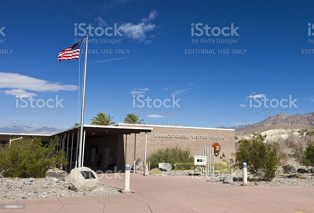 Death Valley Visitor Information Center stock photo