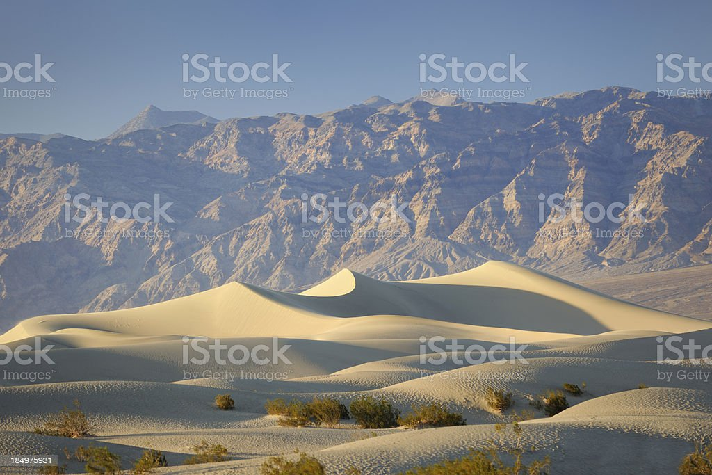 Deathy Valley Sand Dunes Panorama, California, USA royalty-free stock photo