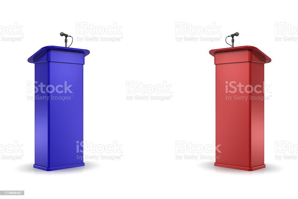 Debate Podiums stock photo