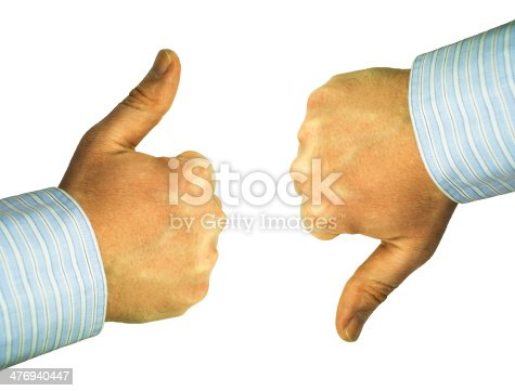 istock debate, thumbs up and down 476940447