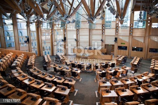 Inside the main debating chamber of the Scottish Parliament building in Edinburgh.More Scottish Parliament Building images: