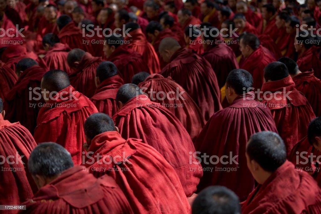 Debating monks  royalty-free stock photo
