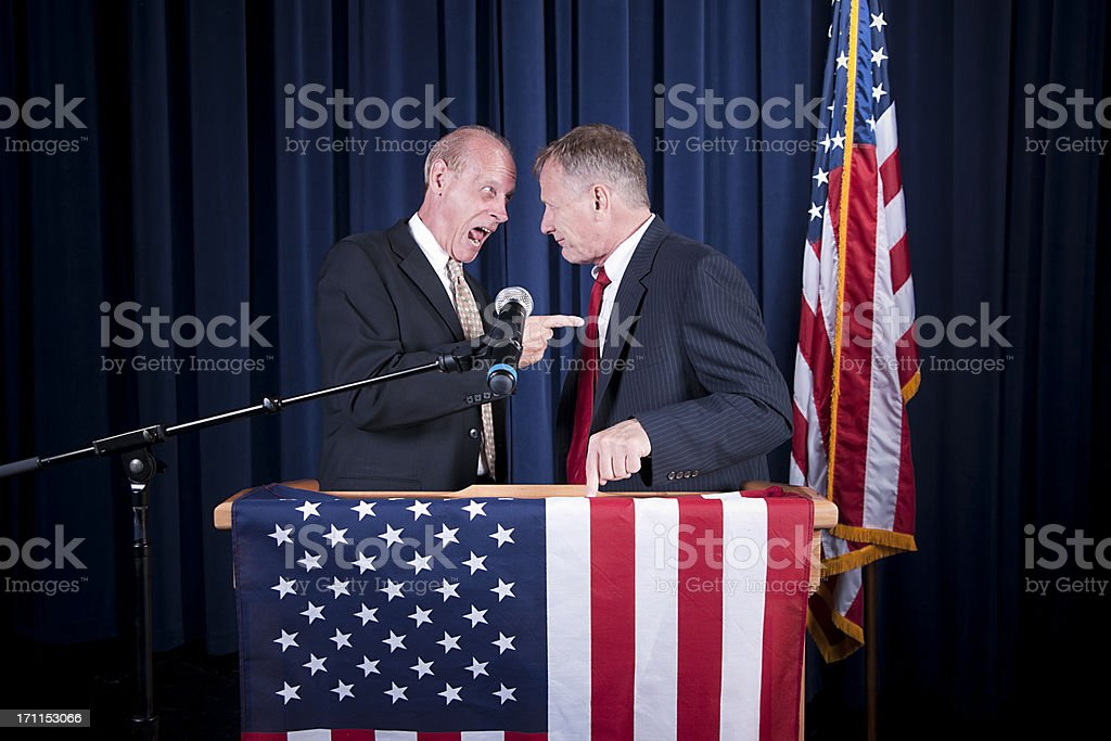Debating Politicians royalty-free stock photo