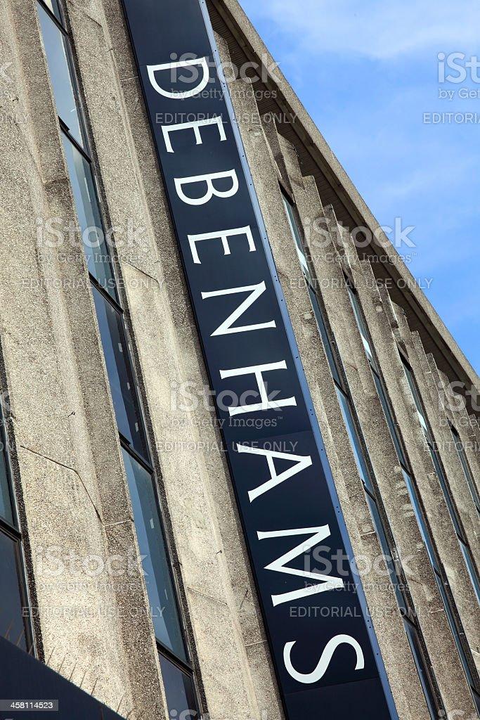 e857e9ef66981 Debenhams Department Store Sign Oxford Street Stock Photo & More ...
