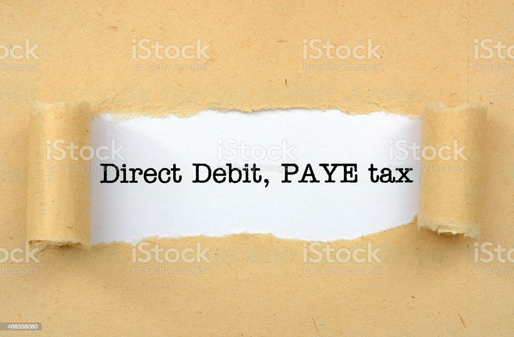 Debit, pay tax royalty-free stock photo