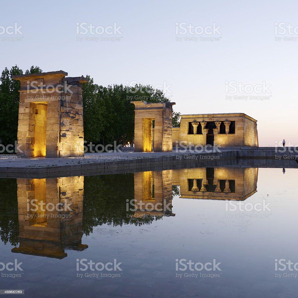 Debod Egyptian Temple stock photo