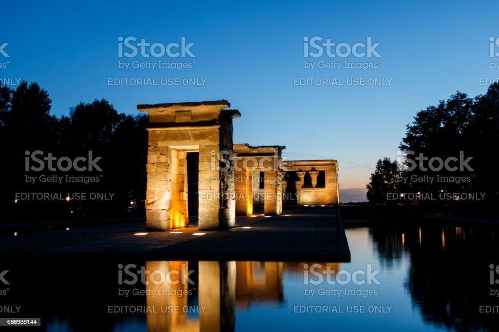 Debod Temple in Madrid stock photo