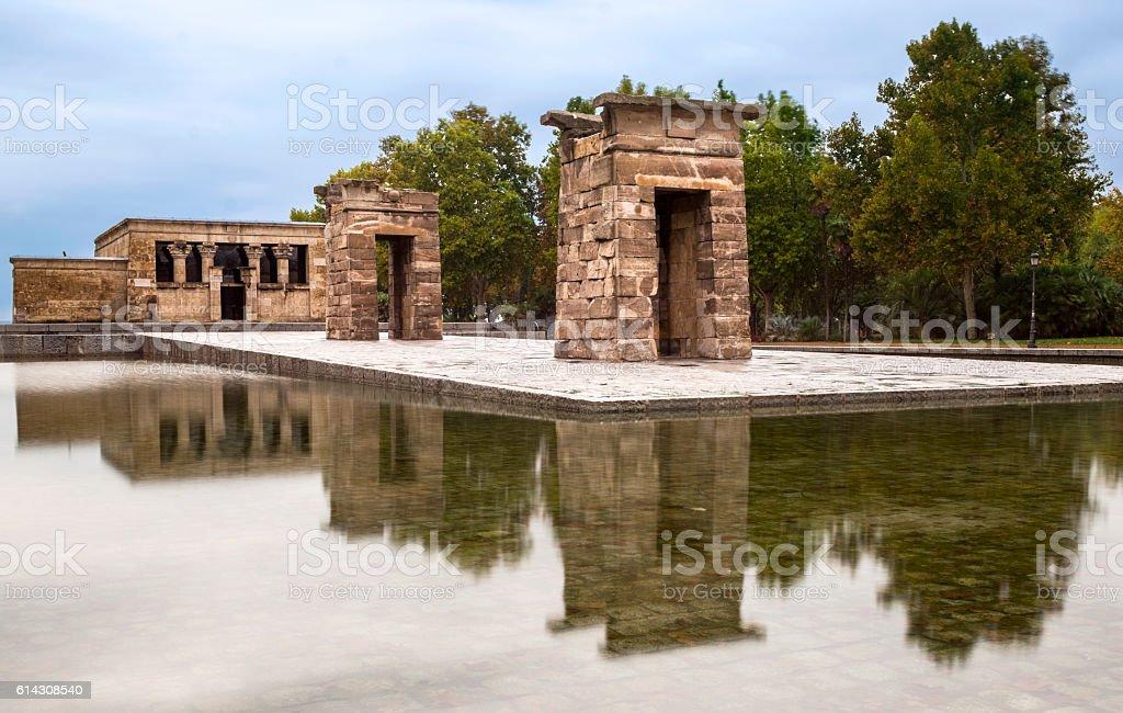 Debod Temple in Madrid,Spain stock photo