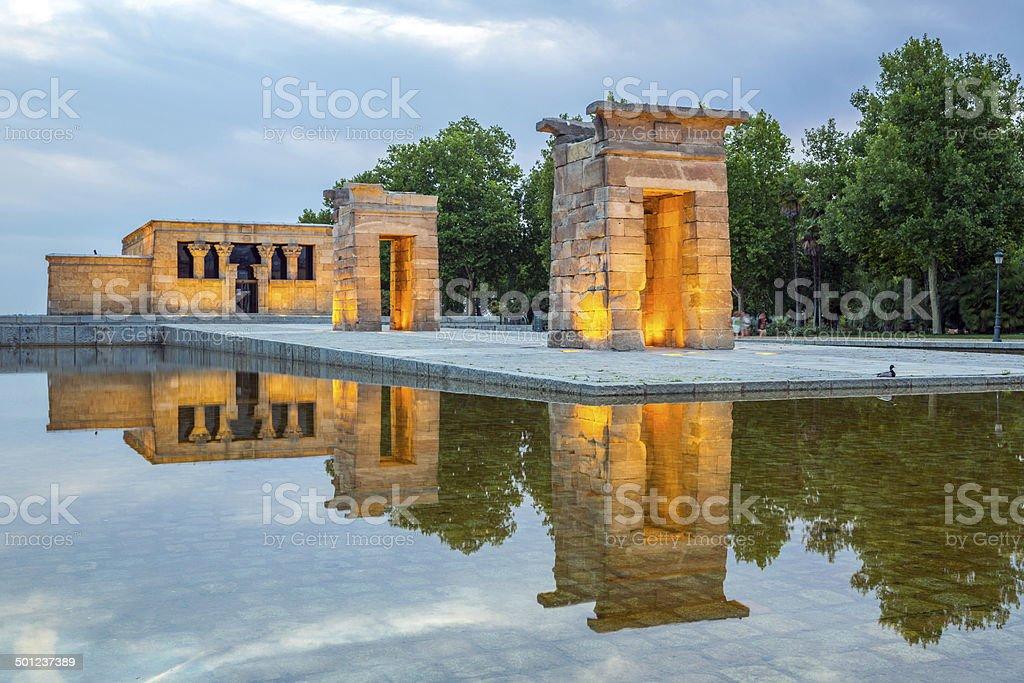 Debod Temple Madrid stock photo