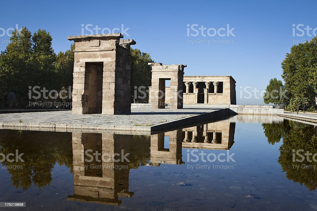 Debod Temple royalty-free stock photo