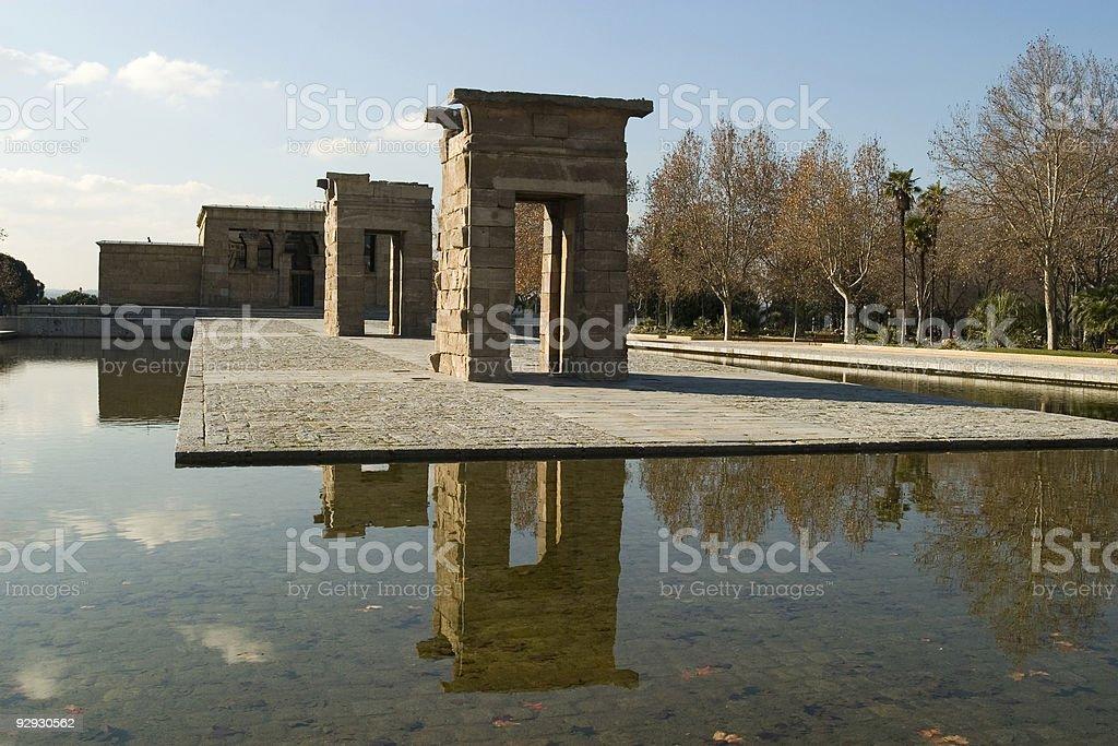 Debod Temple stock photo