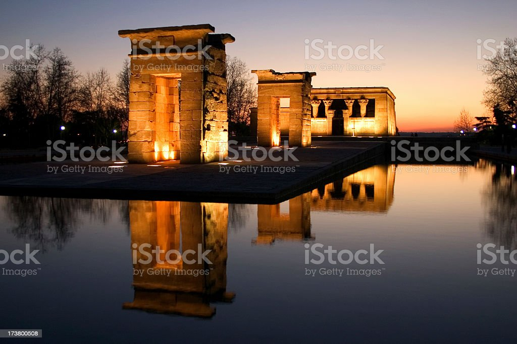 Debod's temple in Madrid, Spain I royalty-free stock photo