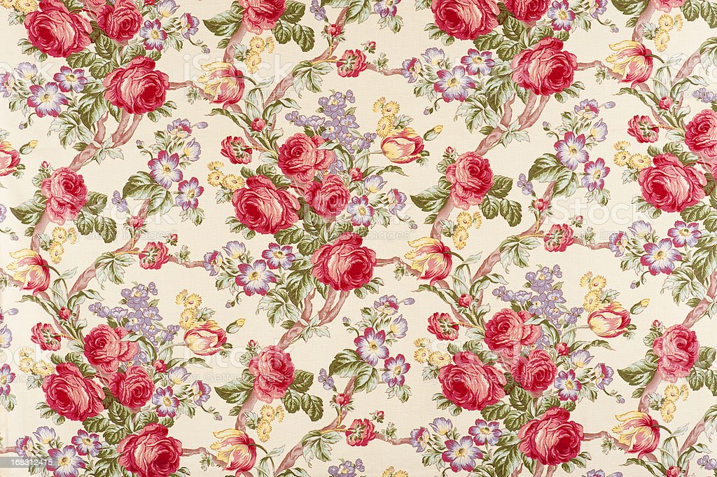 Debonair Antique Floral Fabric stock photo