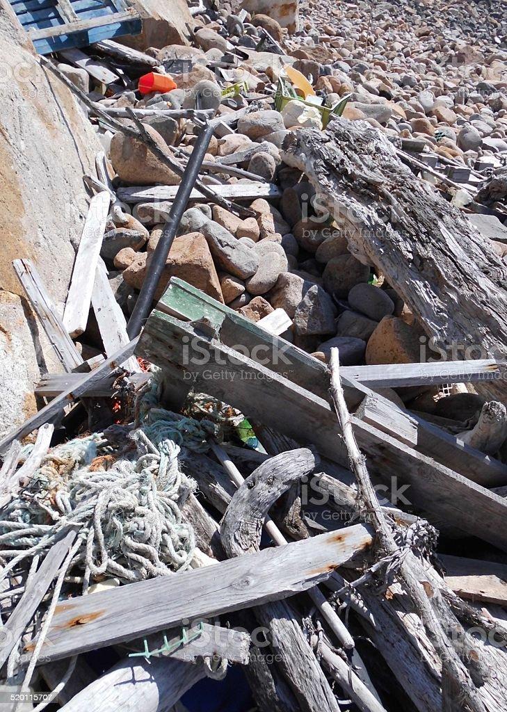 Debris From The Sea stok fotoğrafı