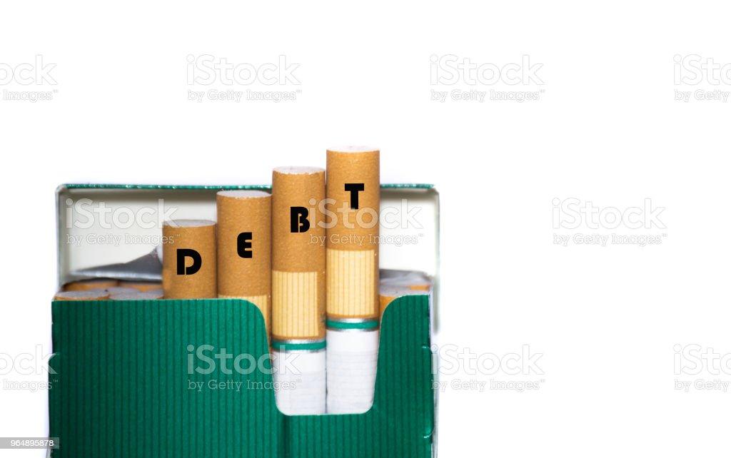 債務不良金融習慣概念 - 免版稅2018圖庫照片