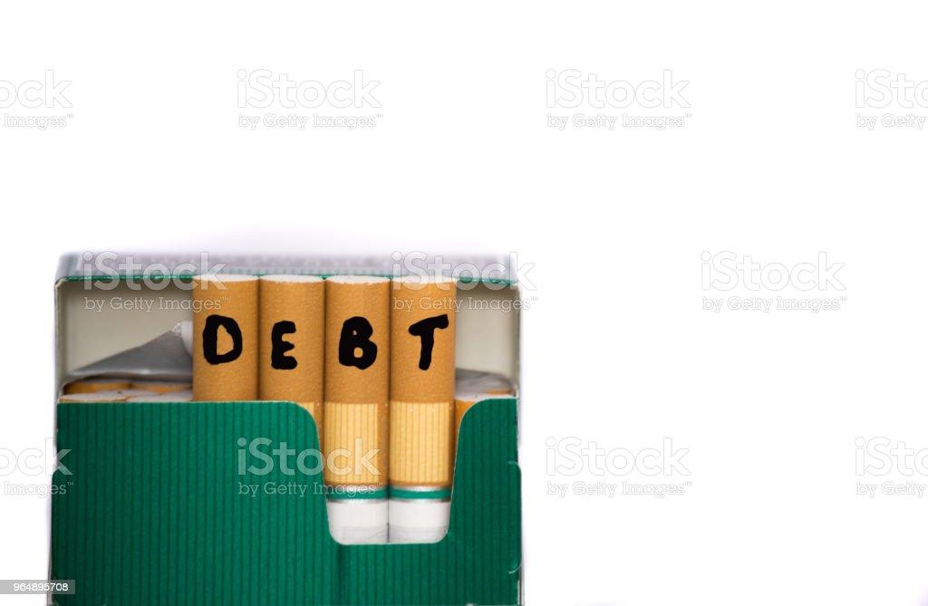 Debt Bad Habit Concept royalty-free stock photo