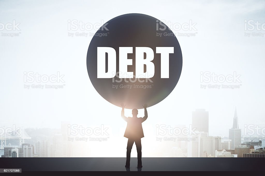 Debt concept stock photo