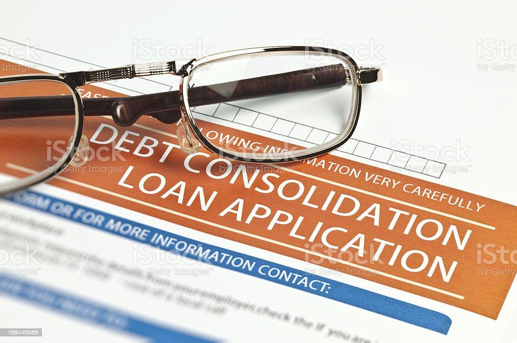 Debt Consolidation Loan Application royalty-free stock photo