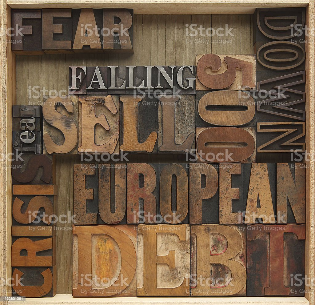 debt crisis royalty-free stock photo