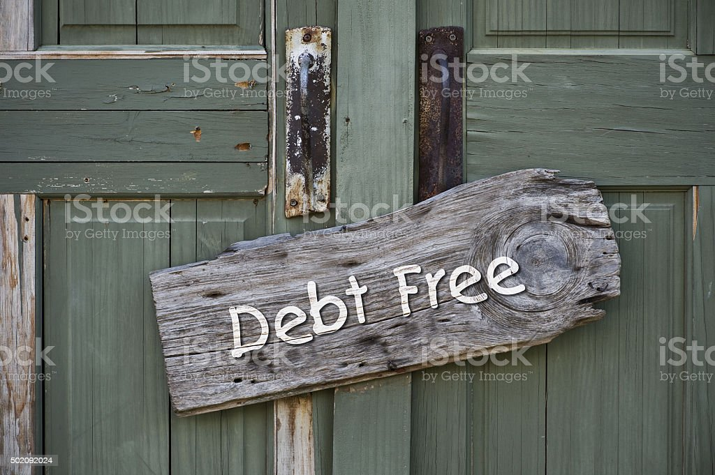 Debt Free. stock photo