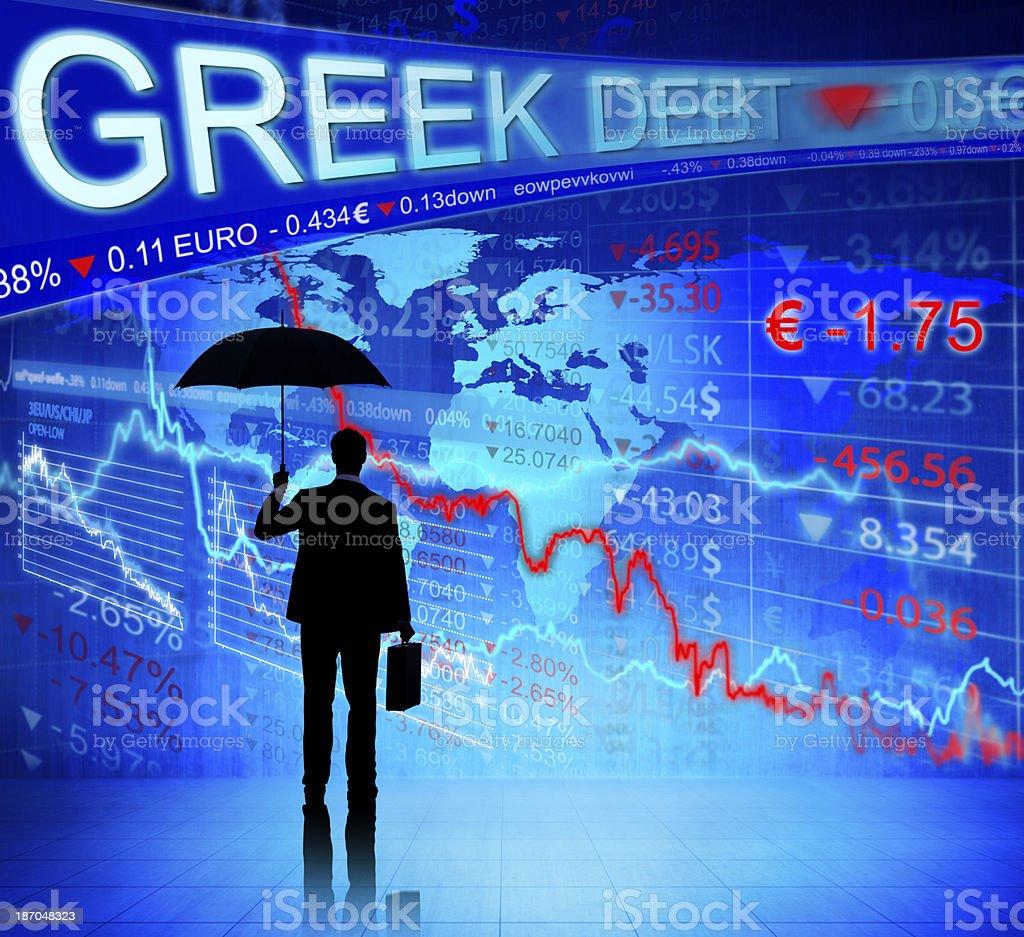Debt Greek stock photo