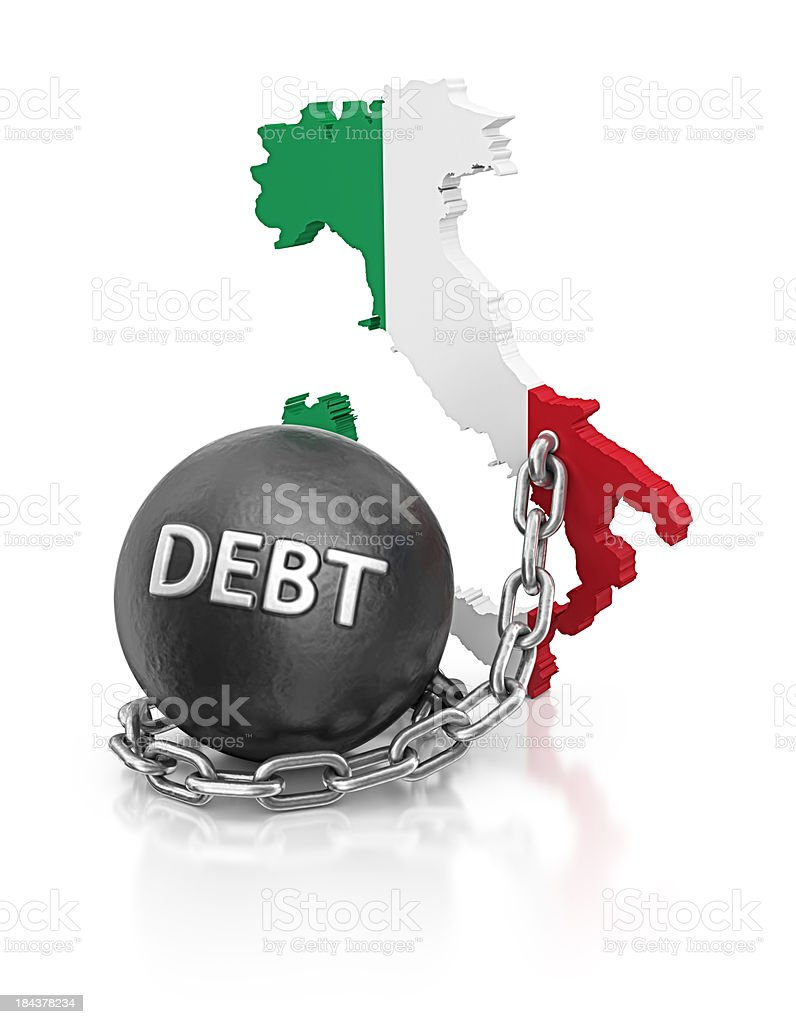 debt italy royalty-free stock photo