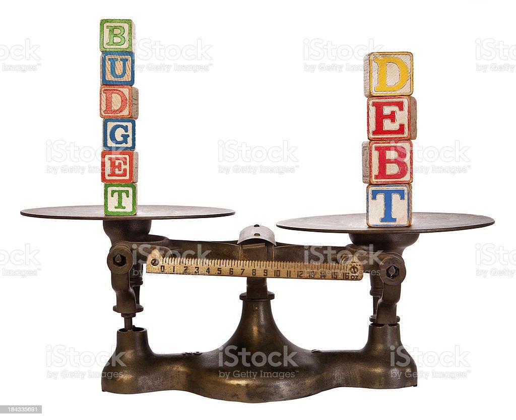 La deuda superan presupuesto en escala de antigüedades - foto de stock