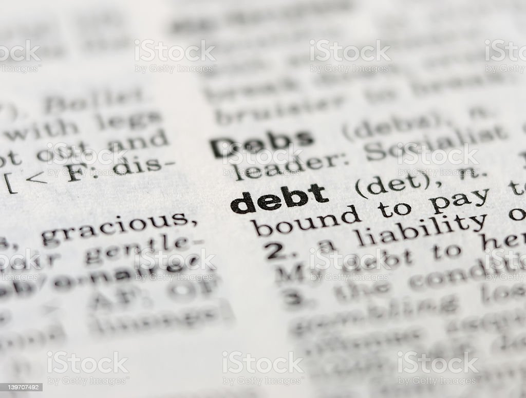 Debt royalty-free stock photo