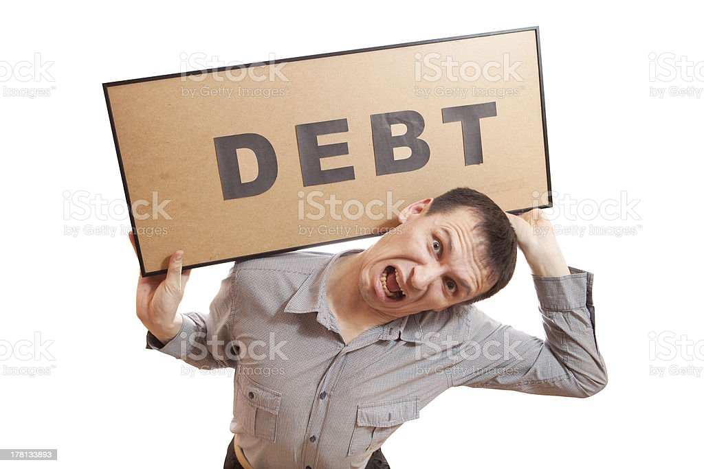 Debt. royalty-free stock photo