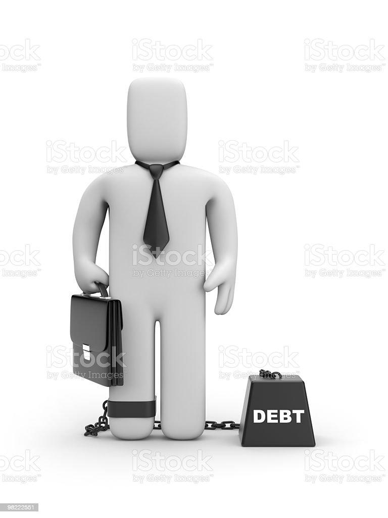 Debt royalty-free stock photo