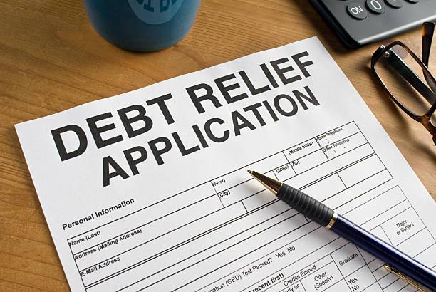 Debt Relief Application stock photo