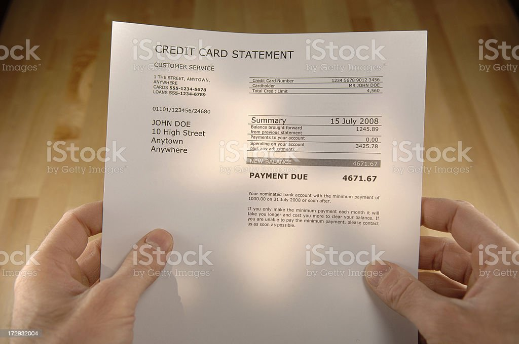 debt series stock photo