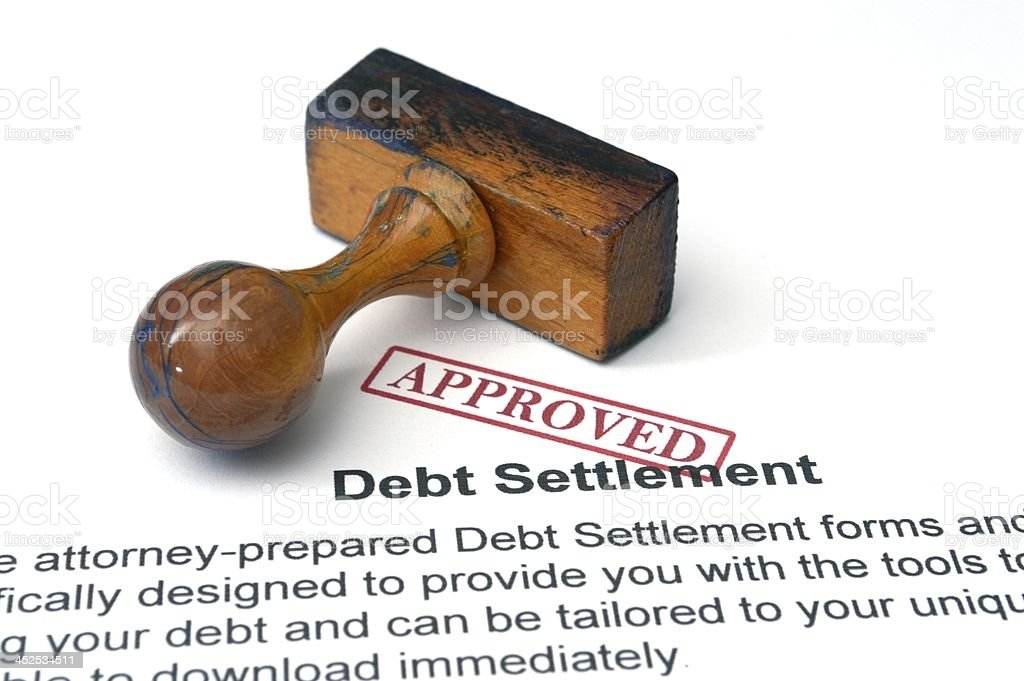 Debt settlement - approved stock photo