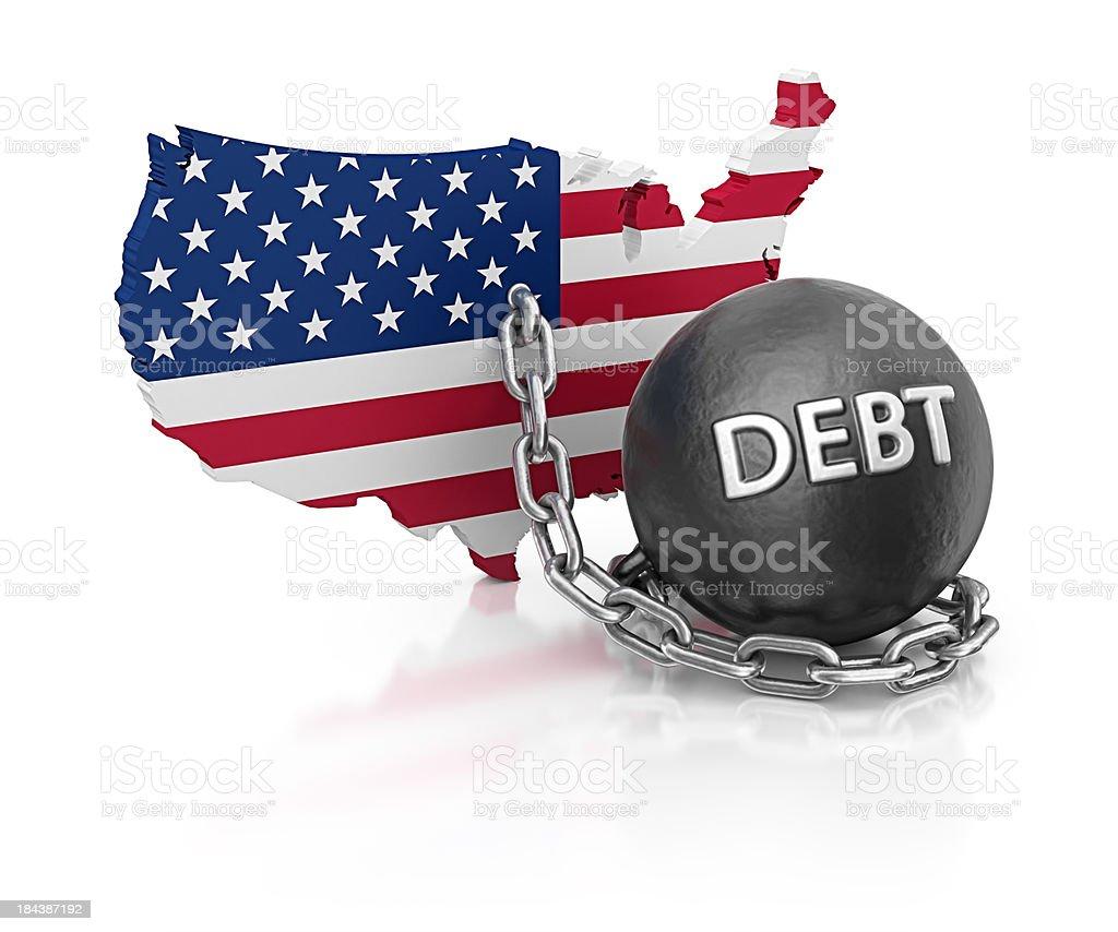 debt usa stock photo