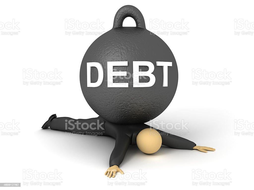 Debt Weight stock photo