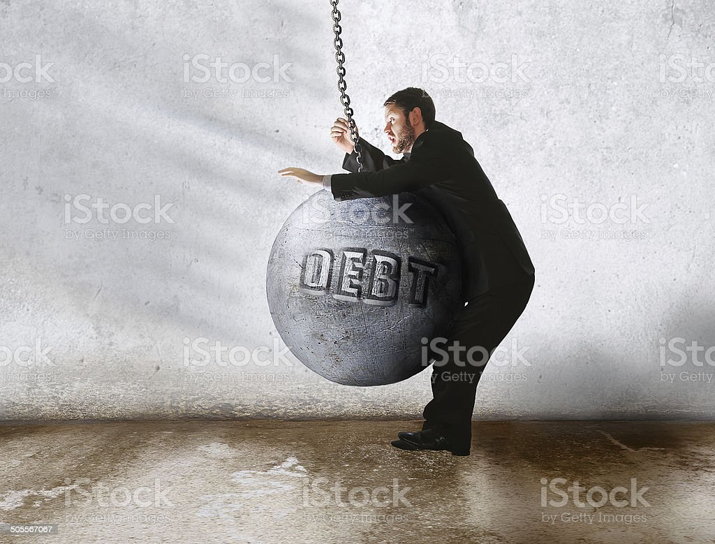 debt wins stock photo