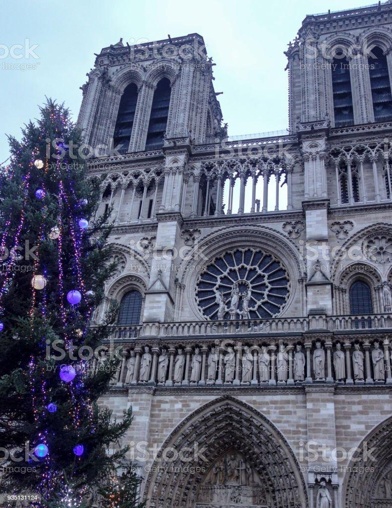 Dec 30 2017 Notre Dame De Paris Cathedral And Christmas Tree ...
