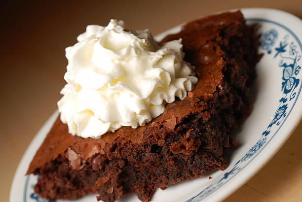 Decadent dessert stock photo