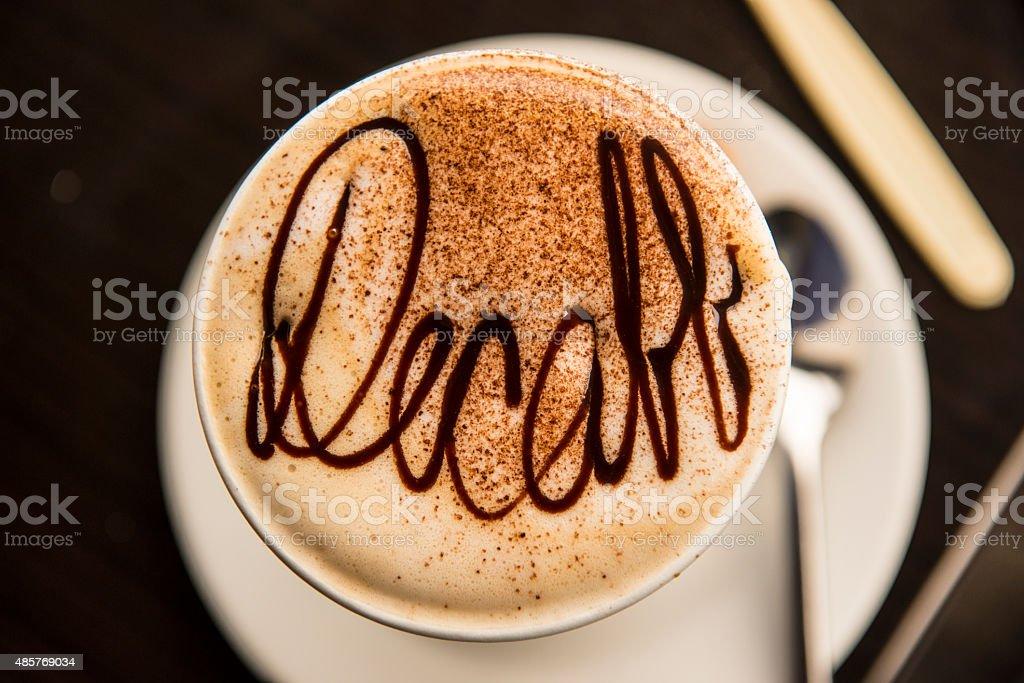 Decaffeinated coffee stock photo