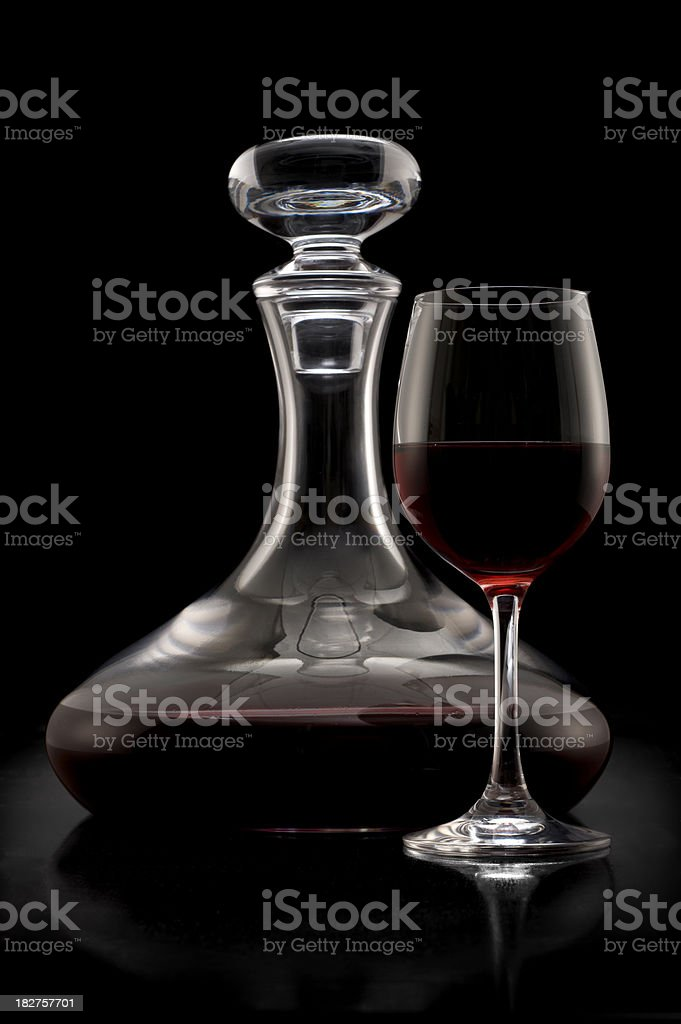 Decanter and Glass stock photo
