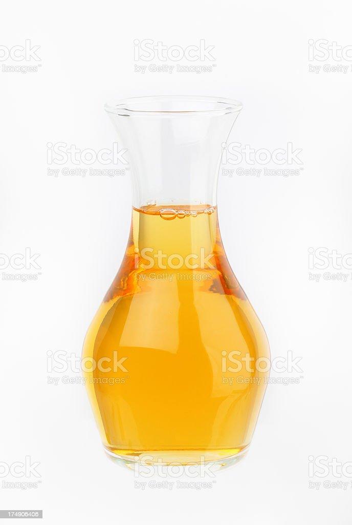decanter of apple juice stock photo