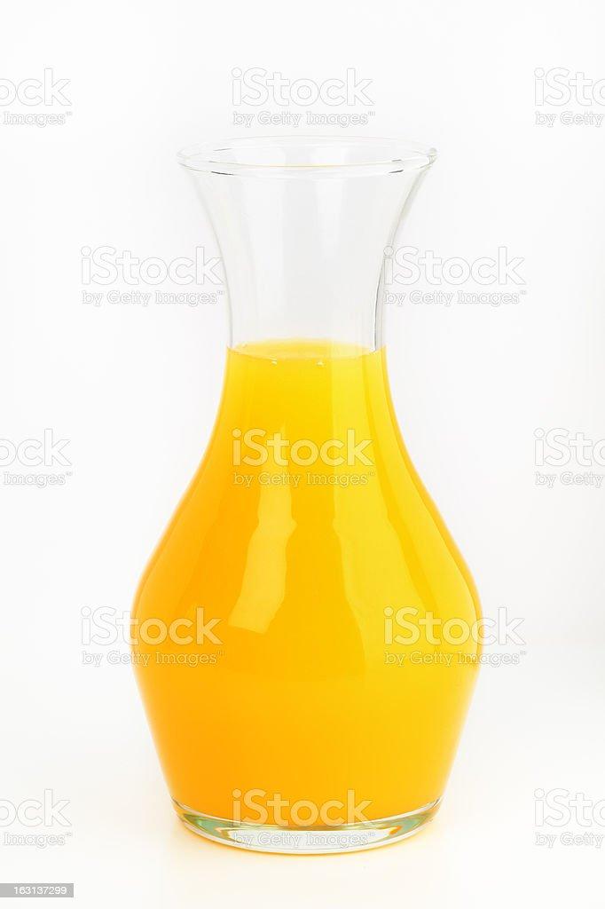 decanter of orange juice stock photo