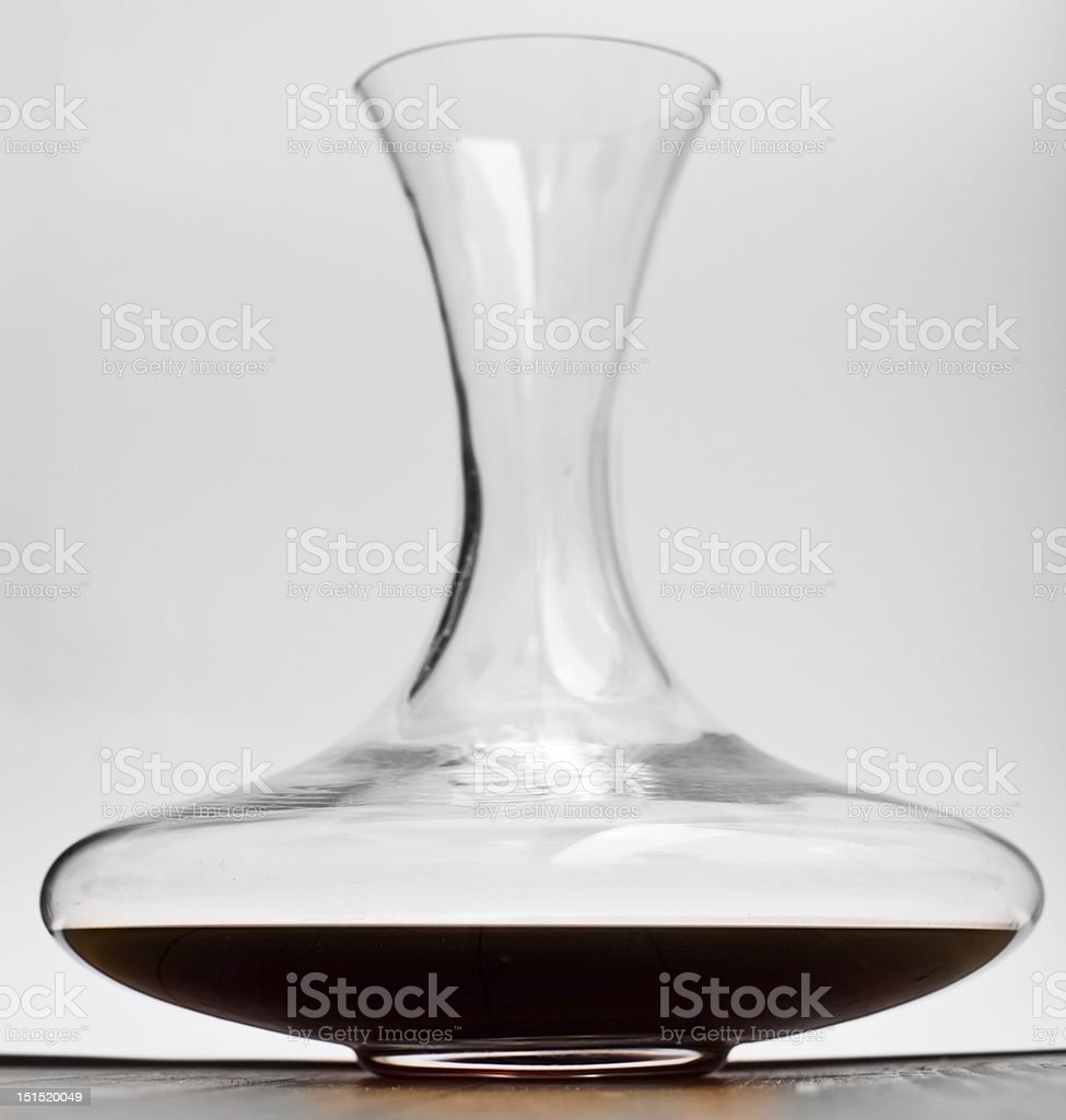 Decanter of red wine royalty-free stock photo