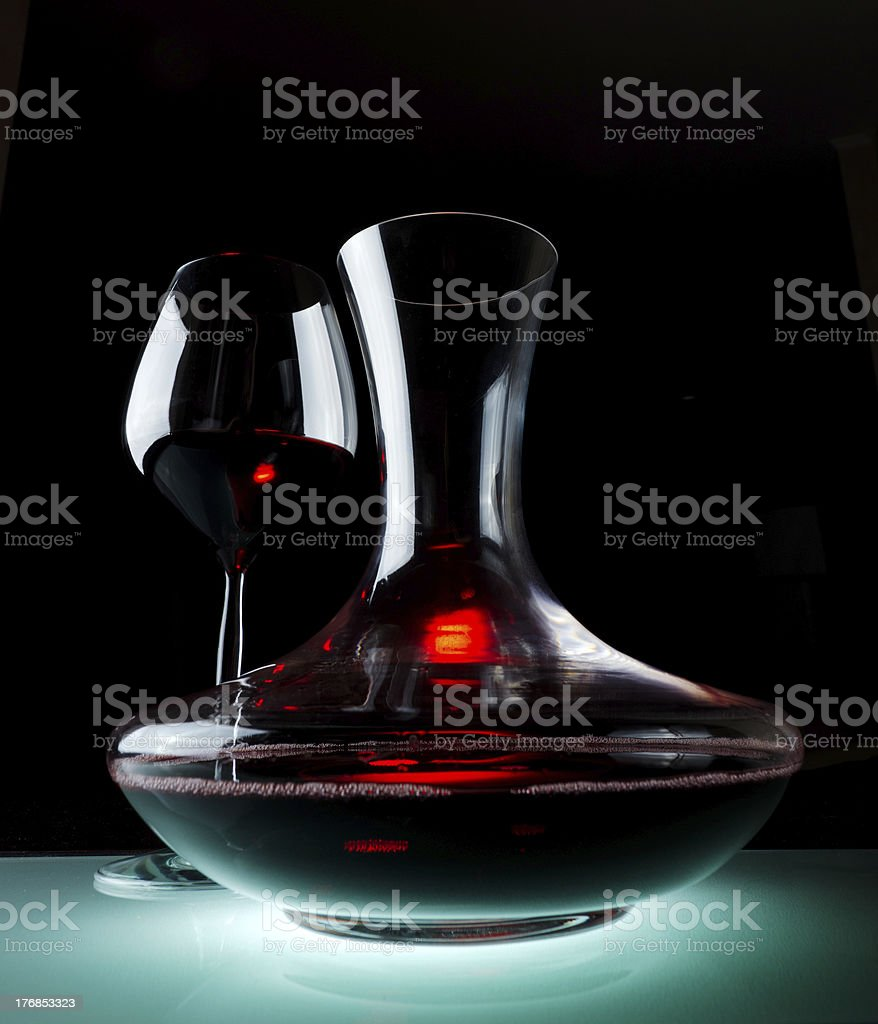 Decanting royalty-free stock photo